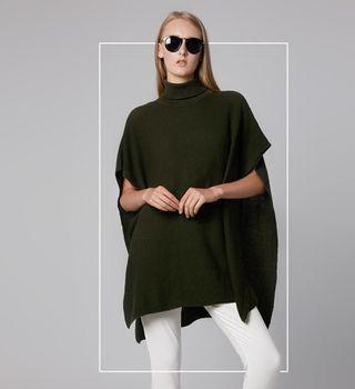 Lookbook Boutique Green Sweater / Cape Knit