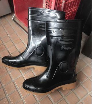 皇力牌 高級全長雙色雨鞋 (10號,只有一雙)  深色 工作雨鞋 全新現貨