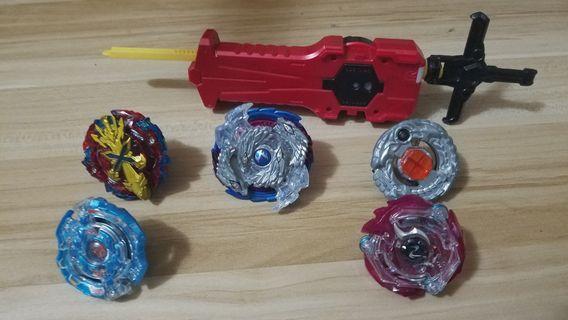 5隻爆旋陀螺+發射器