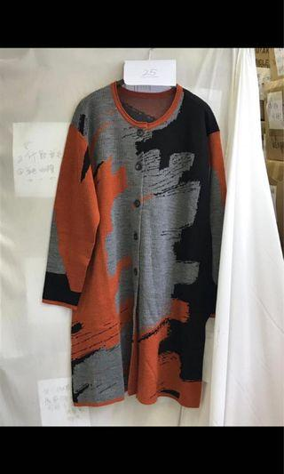 Ladies soft wool mix design one piece japan