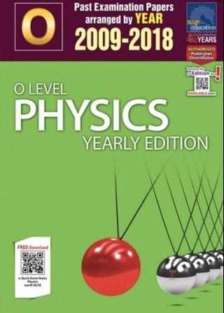 Physics O Level TYS 2008-2017 TWO AVAILABLE