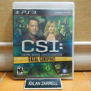 Playstation 3 Games : PS3 CSI Fatal Conspiracy Crime Scene Investigation