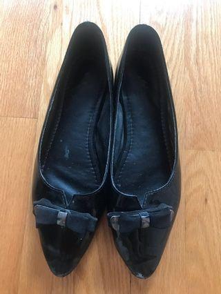 黑色平底鞋37 Black flats