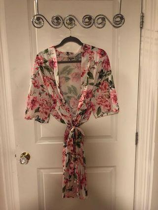 Brand new floral robe
