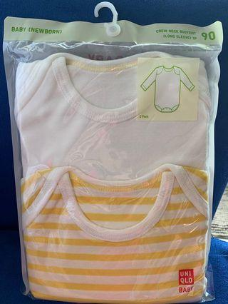 BN Uniqlo Baby Singlets (2-pack Long Sleeves)