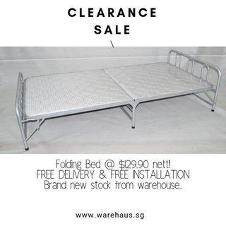 Brand New Foldable Bed Clearance Sale!