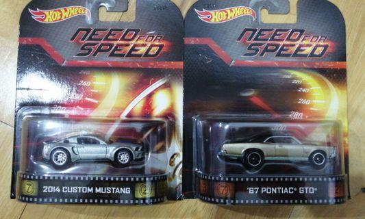 NEED FOR SPEED RETRO CARD SET OF 2