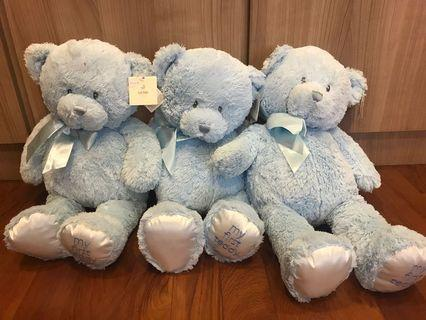🚚 Gund Baby blue My First Teddy Large