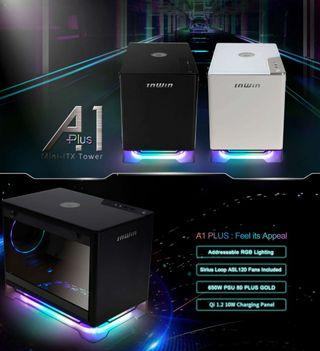 🚚 INWIN A1PLUS ITX MINI-ITX ARGB PC CHASSIS WITH INWIN 650W GOLD PSU CASING COMPONENT