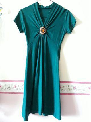 Mididress emerald green