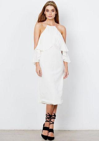 FREDAI MIDI DRESS - WHITE