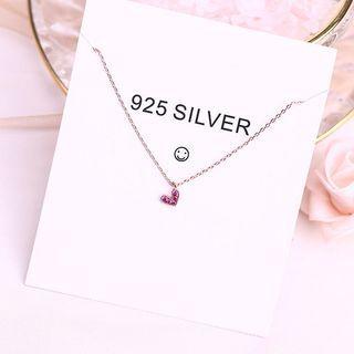 🚚 925純銀鍍玫瑰金心形項鍊