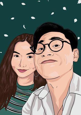 Graphic Illustration/Couple Gift