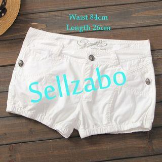 #S52 One Size Shorts Pants Casual Comfortable Relax Wear Sellzabo Ladies Girls Women Female Lady Design Style Plain White Colour