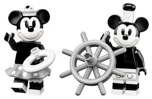 (Last Pair!) Lego Disney Series 2 71024 Minifigures (Vintage Mickey Mouse #1 & Vintage Minnie Mouse #2)