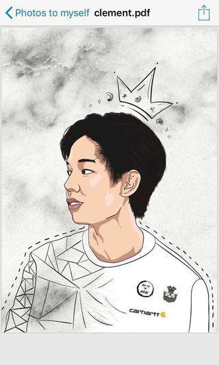 Portrait Customized Illustration/Birthday Gift