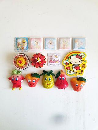Hello Kitty Little Twin Star Fridge Magnets Fruits Strawberry Pineapple Pear Cakes