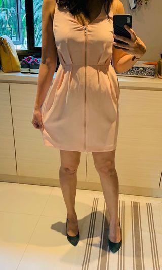 🚚 Baby Pink Zippered Dress