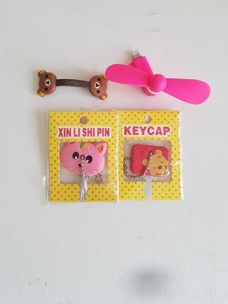 Winnie Pooh Cat Usb Fan Cable Tidy Key Cap