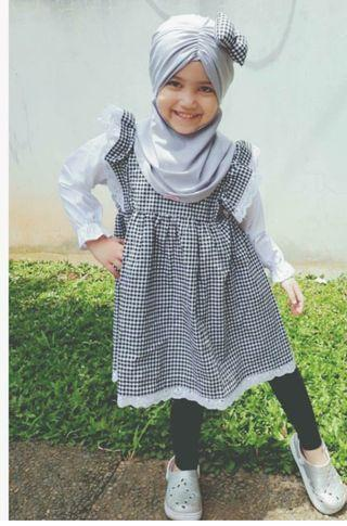 Tunik plus hijab brand Lubna Kids