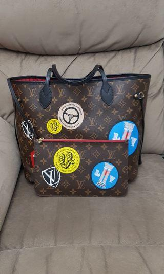 🚚 LOUIS VUITTON WORLD TOUR NEVERFULL BAG