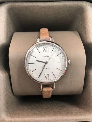 Fossil ES4357 Annette Three-Hand Sand Leather Strap