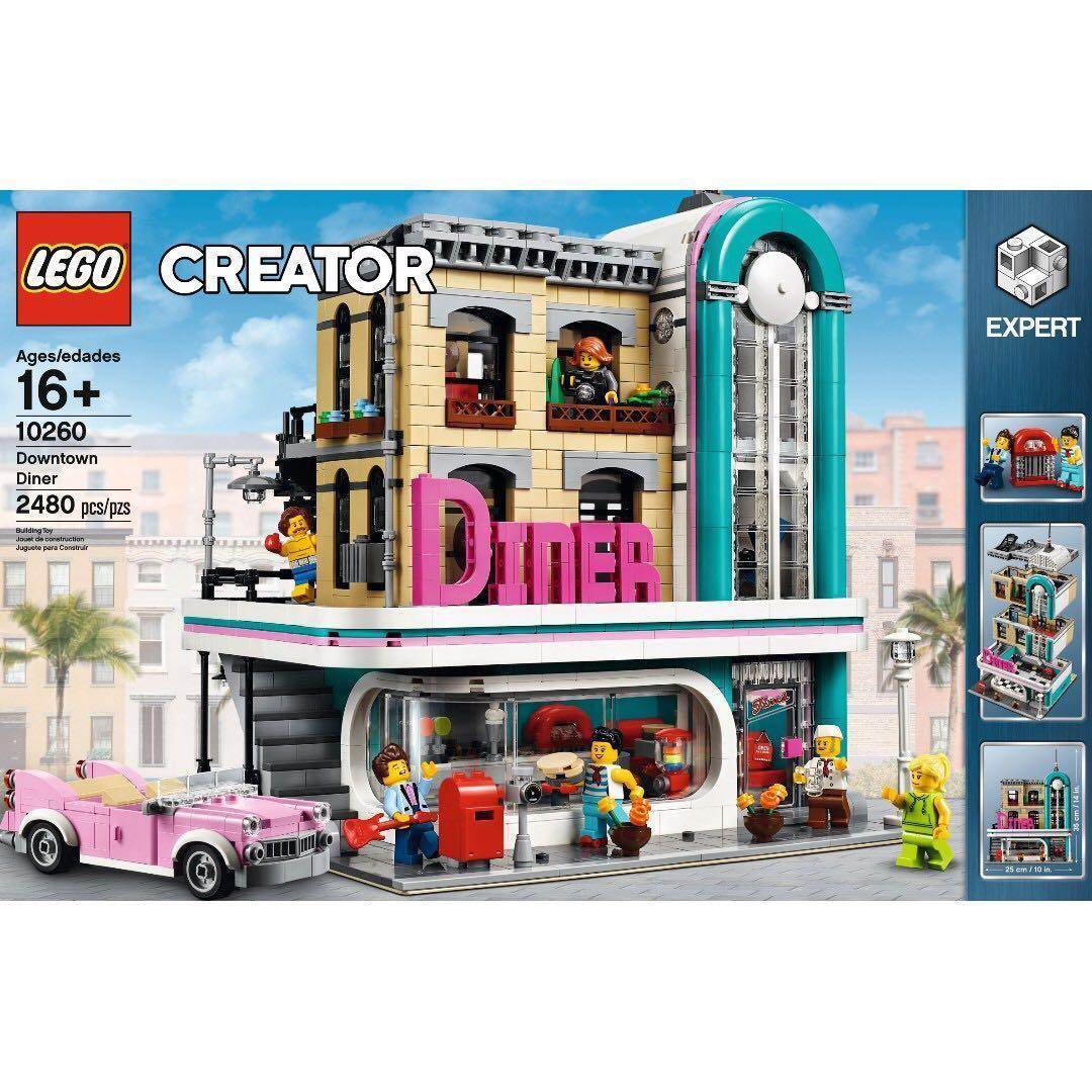 10260 Lego Creator Expert Downtown Diner (Brand New