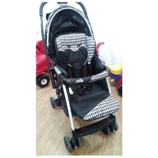 Joie Reversible Handle Pram with full canopy and twin peekholes