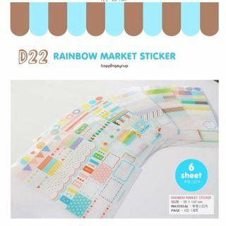 🚚 童趣福利社 貼紙簿 D22 韓國 Wanna可愛透明標籤貼紙6入 手帳貼紙
