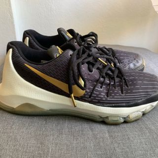 best cheap 472dc 316c1 Nike KD 8 black and gold US7Y