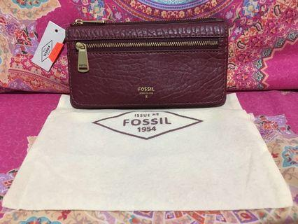 Fossil Preston Wallet Wine