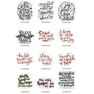 Mini Stickers - Christian