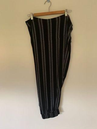 black stripe culottes