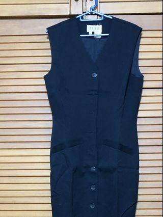 🚚 Studio Career (Tangs ) sleeveless 3/4 length black dress with lining