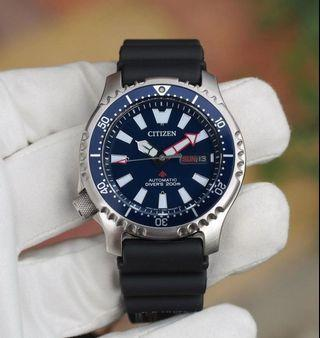🚚 Citizen Promaster Asia Limited Edition Diver Watch Blue Bezel NY0081-10L
