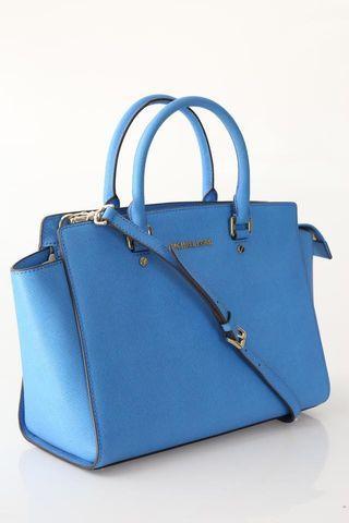 🚚 Authentic Michael Kors Selma Handbag Large Sky Azure Blue GHW