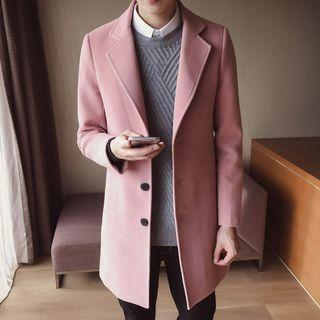 (INSTOCK) Korean Men's Classic Pink Winter Outerwear Jacket
