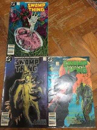 3 Issues Swamp Thing DC comics
