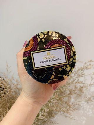 🚚 限時搶購!全新 現貨一組 VOLUSPA 美國香氛 Japonica 日式庭園系列 Crane Flower 天堂鳥 錫盒 椰子蠟 113g