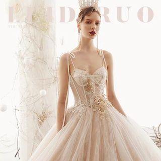 2019 summer  new arrival  heavy  lace  fancy  ang elegant  Wedding Dress華麗婚紗