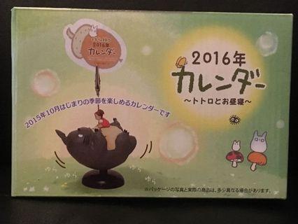 龍貓 トトロ Totoro (宮崎駿) 2016年曆卡片相片夾