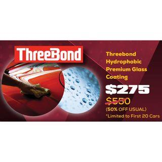ThreeBond Premium Hydrophobic Glass Coating Package
