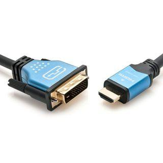 (BN) BLUERIGGER Gold Plated High Speed HDMI to DVI Bi-Directional Adapter Cable - 1.8m (Brand New)