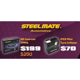 STEELMATE Tyre Pressure Monitoring System & Mini Tire Inflator