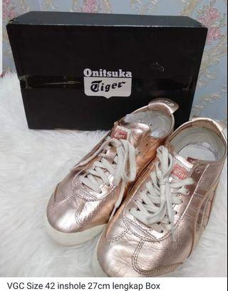 Onitsuka tiger 66 Rosegold size.42 authentic