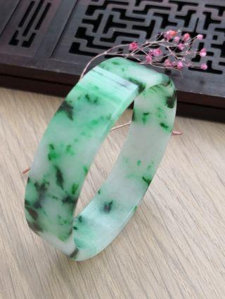51mm Burmese Type A Icy Translucent Jadeite Jade Bangle