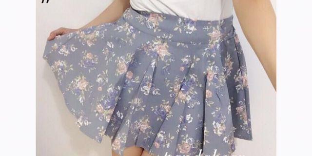 花花短裙(側邊有拉鍊)