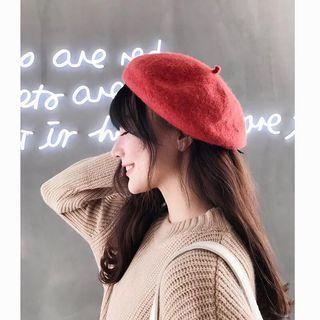 黑色貝雷帽(全新)