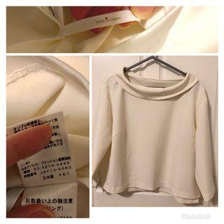 🇯🇵Made in Japan Ivory Woven Pullover