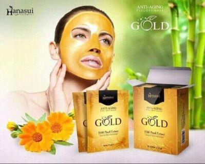 Masker Naturgo black & gold